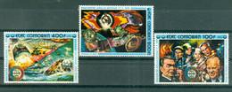 ETAT COMORIEN - P.A. N° 95** MNH à 97** MNH SCAN DU VERSO - Coopération Spatiale U.S.A. - U.R.S.S. Sujets Divers. - Comoros