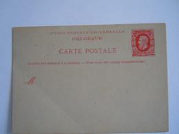 Belgique Entier Carte Briefkaart Leopold II Nr. 15 1879 - Postales [1871-09]