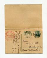 !!! OCCUP ALLEMANDE DE LA POLOGNE, ENTIER + CARTE REPONSE PAYEE, CACHET DE JABLONNA DE 1916 - Cartas