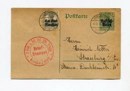 !!! OCCUP ALLEMANDE DE LA POLOGNE, ENTIER POSTAL POUR STRASBOURG, CACHET DE JABLONNA DE 1916 - Cartas