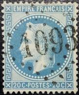 N°29B.Variété. Napoléon 20c Bleu. Oblitéré Losange G.C. N°1093 Commercy - 1863-1870 Napoléon III Lauré