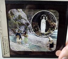 Plaque De Verre Lanterne Magique - Paysages Des GAVES - Scène Rurale Du Béarn - Pyrénées - A Voir !  TBE - Glass Slides