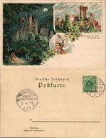 Ansichtskarte Litho AK Brodenbach Burg Eltz Bei Nacht, Ehrenburg, Tracht 1899 - Ohne Zuordnung
