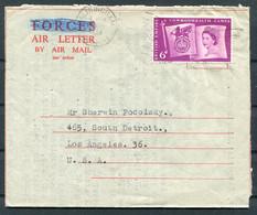 1958 GB Air Letter Altrincham - Los Angeles, USA. Stanley Garnett, Royal Philatelic Society Member - Covers & Documents