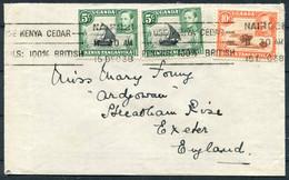 """1938 KUT Kenya Nairobi """"Use Kenya Cedar"""" Machine Slogan Cover - Exeter England - Kenya, Uganda & Tanganyika"""
