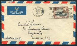 1951 KUT Kenya Nairobi Machine Slogan Airmail Cover - Inverness Terrace, Bayswater London - Kenya, Uganda & Tanganyika
