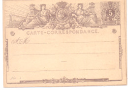Belgique Carte Postale N° 1 A Neuve - Postales [1871-09]