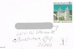 USA - Postkarte Historic Preservation - Mormonen Temple Salt Lake City - Sin Clasificación