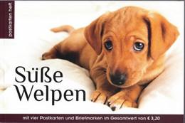 Hondenpups 4 Speciale Postzegels En 4 Postkaarten 2018 - 2011-... Nuevos & Fijasellos