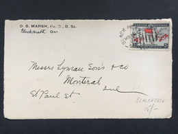 CANADA 1899 Front Of Cover Blackheath Ontario Sent To Montreal  Tied With Imperial Penny Postage Stamp - Cartas