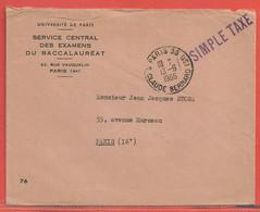 FRANCE LETTRE TAXEE DE 1966 DE PARIS - 1960-.... Briefe & Dokumente