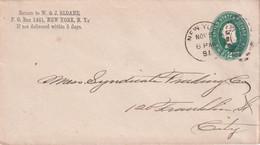 USA 1891   ENTIER POSTAL/GANZSACHE/POSTAL STATIONARY LETTRE DE NEW YORK - ...-1900