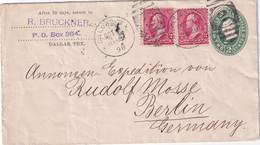 USA 1898   ENTIER POSTAL/GANZSACHE/POSTAL STATIONARY LETTRE DE DALLAS - ...-1900