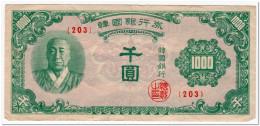 SOUTH KOREA,1000 WON,1950,P.8,aVF - Korea, South