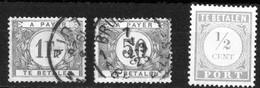 Belgique Belgie Taxe 3 Timbres Dont Un Abimé (50c) Et Un Neuf Sans Gomme état Voir Scan - Briefmarken