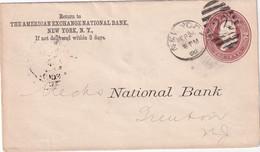 USA 1886   ENTIER POSTAL/GANZSACHE/POSTAL STATIONARY LETTRE DE NEW YORK - ...-1900