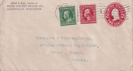 USA    ENTIER POSTAL/GANZSACHE/POSTAL STATIONARY LETTRE DE JANESVILLE - ...-1900