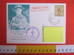 SJGG1 ITALY ITALIA POSTCARD CARTOLINA SCOUT SCOUTING JAMBOREE 1967 ANCONA SETTIMANA SCAUTISMO BADEN-POWELL - Scouting