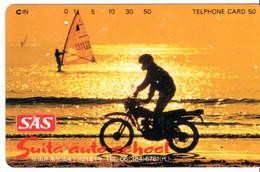 Moto  Coucher De Soleil Télécarte Japon   Phonecard   (T 155) - Moto