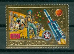 ETAT COMORIEN - P.A. N° 98** MNH  SCAN DU VERSO - Rencontre Apollo-Soyouz. Dentelé. - Comoros