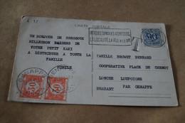 Superbe Envoi De 1952 ,Taxe  2 X 30 C.,oblitération Genappe ,belle Carte Signé J.Mazelle - Briefe U. Dokumente