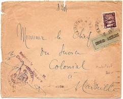 Indochine : Lettre De 1934 - Service Accéléré - 5c Engkor Surchargé SERVICE - Ambulant 'Haiphong à Hanoï' - Briefe U. Dokumente