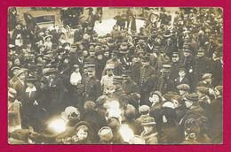 Carte Photo Militaria - Champagné - Camp D'Auvours - 17 Octobre 1915 - Arrivée Des Délégations - Oorlog 1914-18