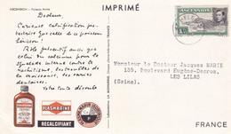 CARTE PUBLICITAIRE ASCENSION - PUBLICITE PLASMARINE / LABORATOIRE PHARMACEUTIQUE  - - Unclassified