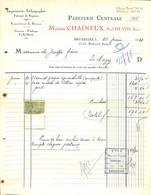 Bruxelles - Imprimerie Lithographie Papeterie Maison Chaineux Paul De Vos 1924 Timbre - 1900 – 1949