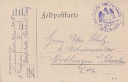 Feldpostkarte Kgl. Preuss. 32. Landwehr Inf. Regt. II. Batl. Nach Nördlingen - 1914 (54671) - Cartas