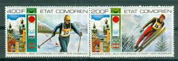 ETAT COMORIEN - P.A. N° 101** MNH Et 102** MNH  SCAN DU VERSO - Jeux Olympiques D'hiver, à Innsbruck . Sujets Divers. - Comoros