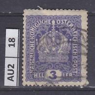 AUSTRIA   1916Corona, Francesco Giuseppe, Stemma 3 H Usato - Used Stamps
