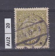 AUSTRIA   1916Corona, Francesco Giuseppe, Stemma 40 H Usato - Used Stamps