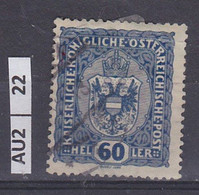 AUSTRIA   1916Corona, Francesco Giuseppe, Stemma 60 H Usato - Used Stamps