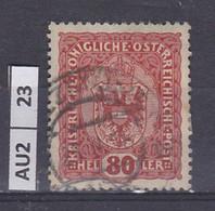 AUSTRIA   1916Corona, Francesco Giuseppe, Stemma 80 H Usato - Used Stamps