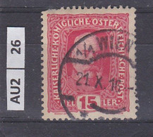 AUSTRIA   1916Francesco Giuseppe 15 H Usato - Used Stamps