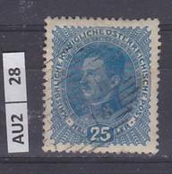 AUSTRIA     1917Imperatore Carlo I 25 H Usato - Used Stamps
