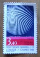 """Conférence Mondiale De L'énergie """"Cannes 1986"""" - France - Oblitérés"""