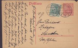Deutsches Reich Uprated Postal Stationery Ganzsache 2x Germania TEMPLIN 1919 Sweden (2 Scans) - Enteros Postales