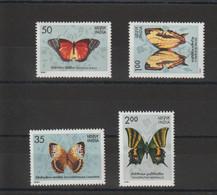 Inde 1981 Papillons 682-83 Et 685-86 4 Val ** MNH - Neufs