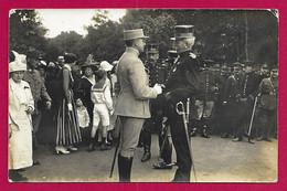 Carte Photo Militaria - Champagné - Camp D'Auvours - 17 Octobre 1915 - Rencontre Des Officiers Supérieurs - War 1914-18