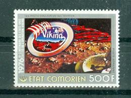 ETAT COMORIEN - P.A. N° 112** MNH SCAN DU VERSO - Bicentenaire De L'indépendance Des Etats-Unis. - Comoros