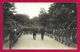 Carte Photo Militaria - Champagné - Camp D'Auvours - Cérémonie Du 17 Octobre 1915 - Revue Des Troupes - War 1914-18