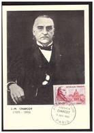 Carte Max.  JM CHARCOT - 1960-69