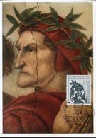 62611 Germany , Maximum 1971, Painting Of Raffael  Raphael, ,  Showing The Poet Dante Alighieri - Cartas Máxima