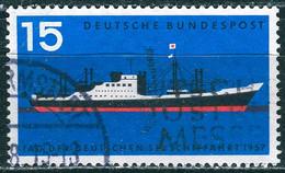 BRD - Mi 257 ⨀ (B) - 15Pf                Tag Der Deutschen Seeschiffahrt - Oblitérés