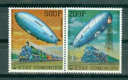 ETAT COMORIEN - P.A. N° 121** MNH Et 122** MNH SCAN DU VERSO - Histoire Des Communications. Verso Du N° 121 Défectueux! - Comoros