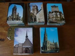 LOT DE 500 CARTES MODERNES D'EGLISES, CATHEDRALES FRANCAISES - 500 Postcards Min.