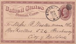 USA   1874  ENTIER POSTAL/GANZSACHE/POSTAL STATIONARY CARTE DE BROCKLIN - ...-1900
