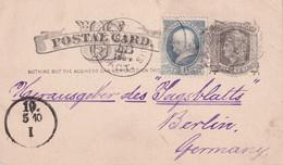 USA   1884  ENTIER POSTAL/GANZSACHE/POSTAL STATIONARY CARTE - ...-1900